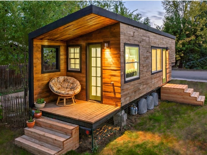 tiny house in a city