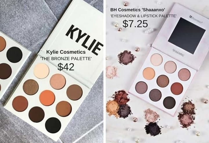 Kylie Cosmetics dupes, drugstore makeup dupes