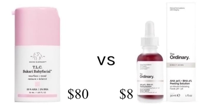 face mask chemical peel, drugstore makeup dupes