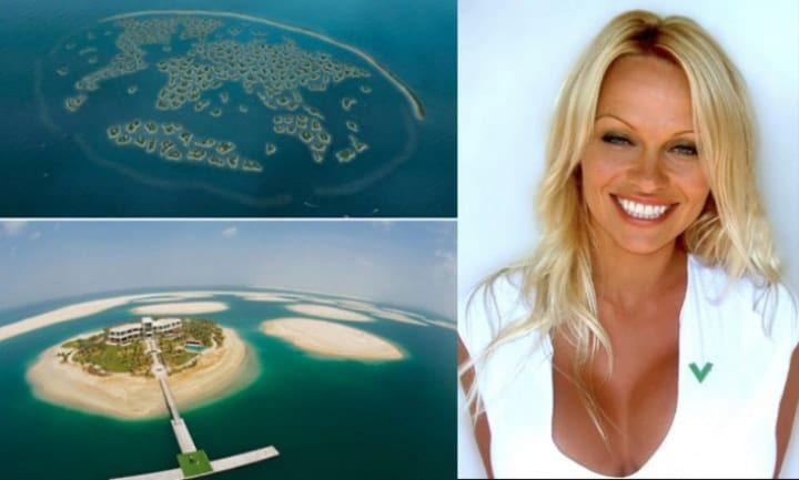 Pamela Anderson, private islands