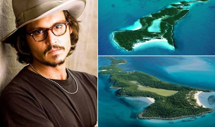 Johnny Depp, private islands