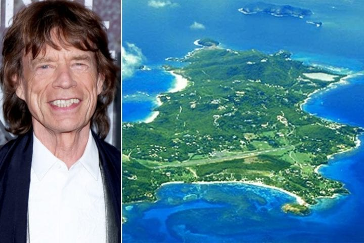 Mick Jagger, private islands