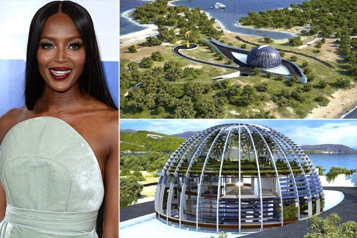 Naomi Campbell, private islands