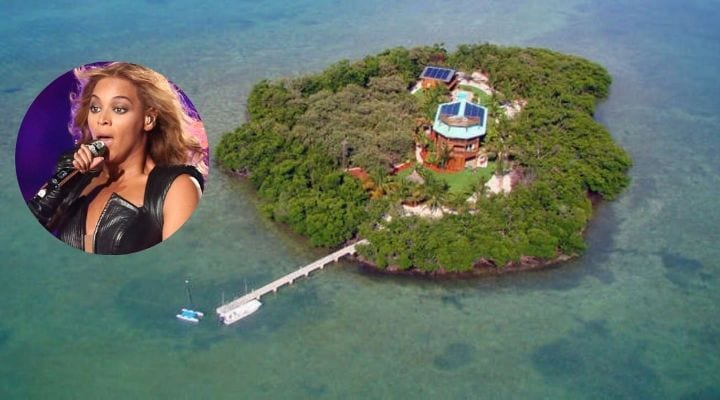 Beyonce, private islands