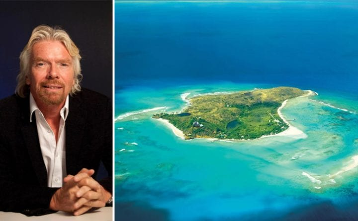 Richard Branson, private islands