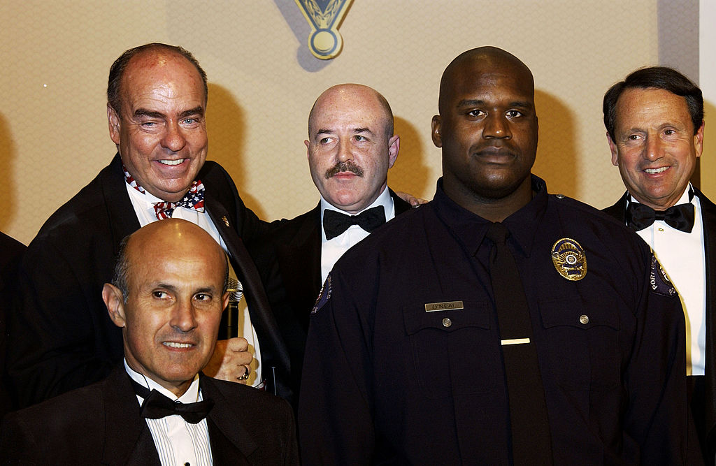 Shaquille O'Neal attends a gala honoring law enforcement