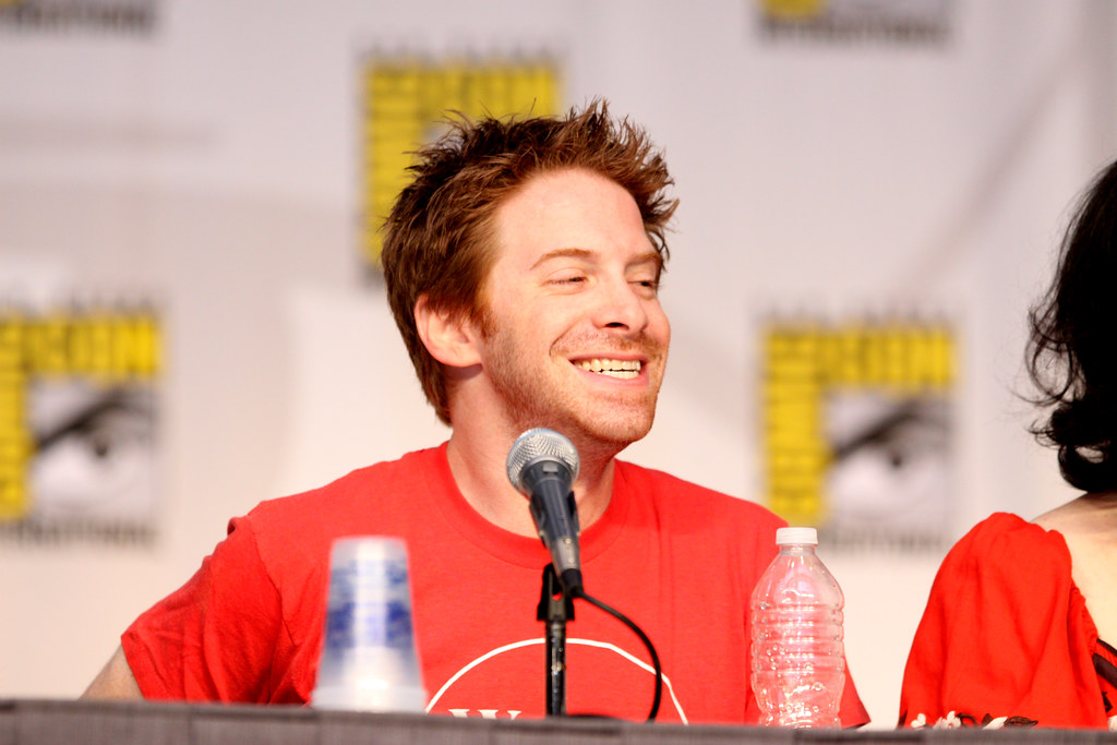 seth green at a Comic Con Conference in San Diego