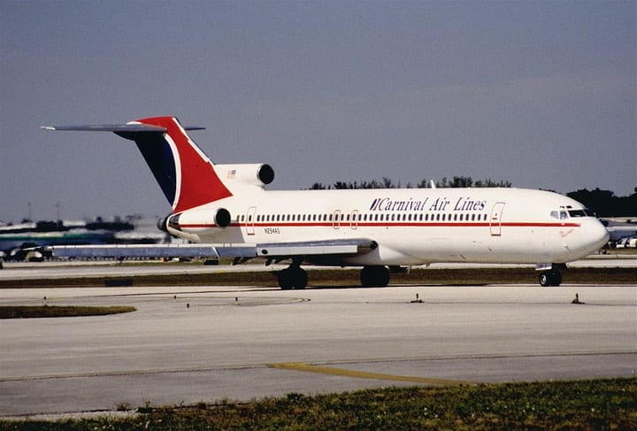 Carnival Airlines, defunct airlines