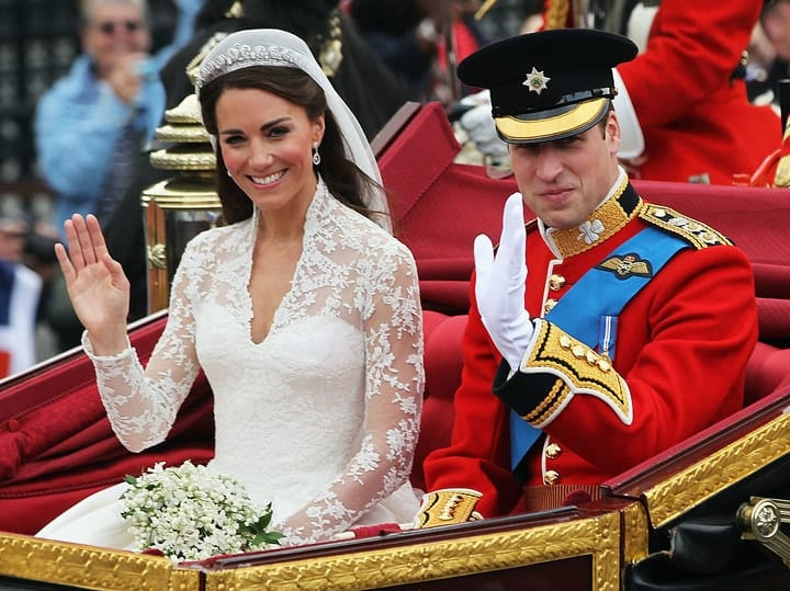 kate middleton, prince william, most extravagant celebrity parties