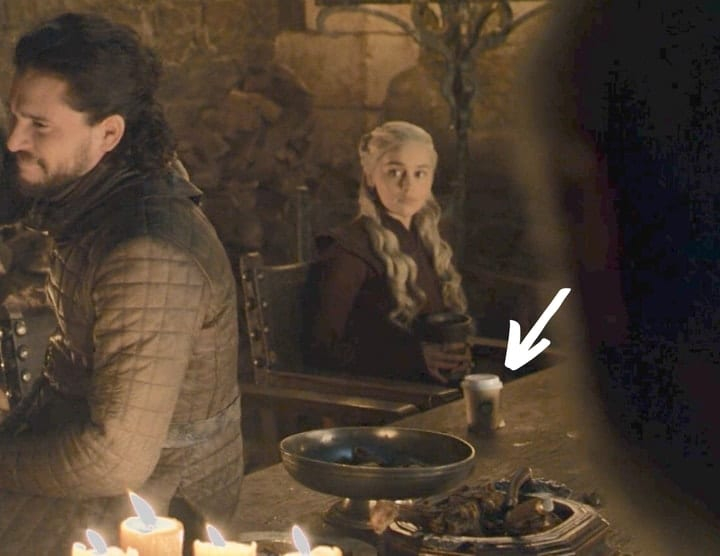 obnoxious product placement, Starbucks, Game of Thrones