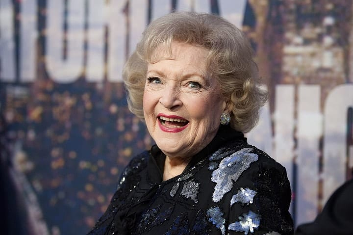 success after 40, Betty White