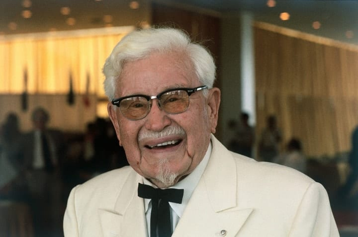 "success after 40, ""Colonel"" Harland Sanders"