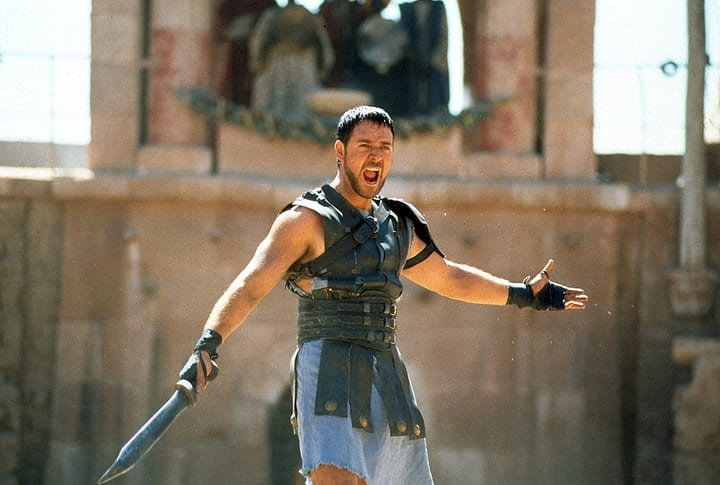 expensive bloopers, Gladiator
