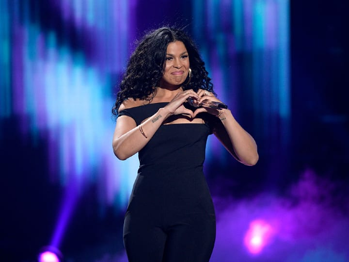 "Recording artist Jordin Sparks performs onstage during FOX's ""American Idol"" Finale For The Farewell Season at Dolby Theatre on April 7, 2016 in Hollywood, California. at Dolby Theatre on April 7, 2016 in Hollywood, California."