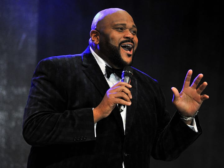 Singer Ruben Studdard performs onstage during the OC Christmas Extravaganza Concert and Ball at Christ Cathedral on December 23, 2015 in Garden Grove, California.