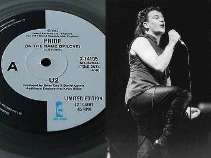 U2, rare vinyl records, Australian single, valuable vinyl