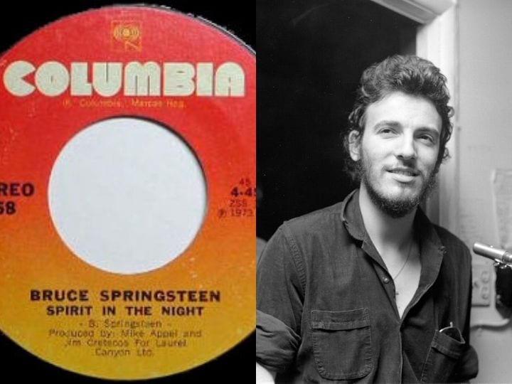 Bruce Springsteen, Spirit in the Night, rare, valuable record
