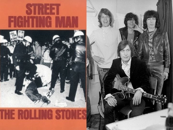 Street Fighting Man, Rolling Stones, Controversial cover, rare, valuable vinyl records