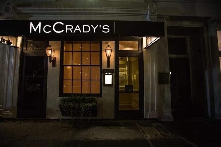 oldest business in South Carolina, McCrady's State