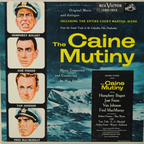 The Caine Mutiny, rare vinyl, soundtrack and scene, valuable records