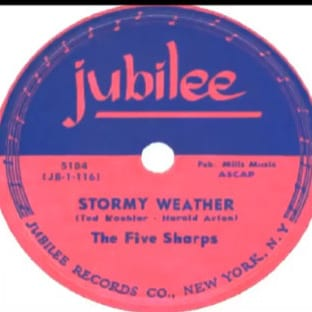 The Five Sharps, Stormy Weather, rare doo-wop record, valuable vinyl
