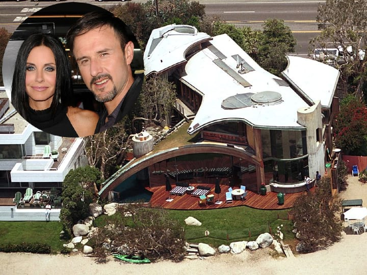 Courtney Cox and David Arquette, Los Angeles mansion, architecture