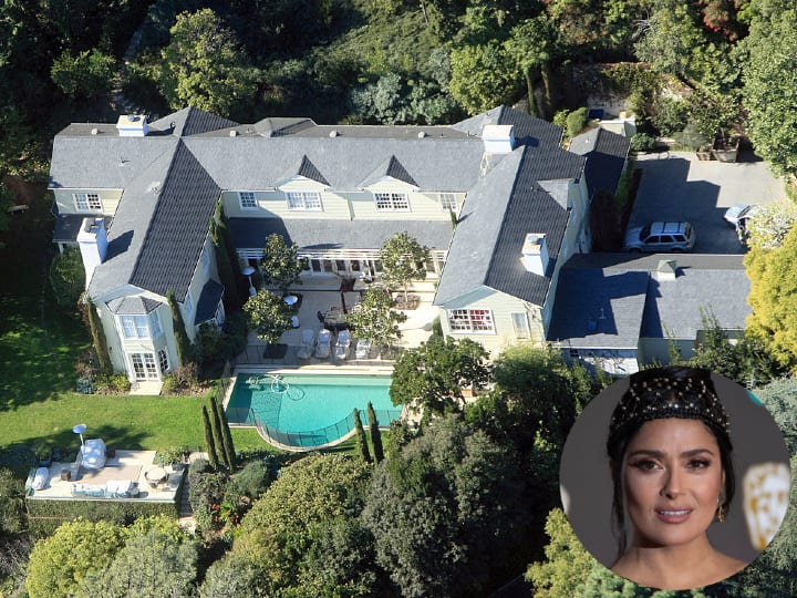 Salma Hayek, Los Angeles home, mansion, rental
