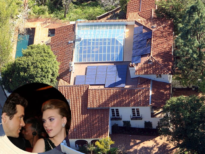 Scarlett Johansson, Ryan Reynolds, Los Angeles, mansion