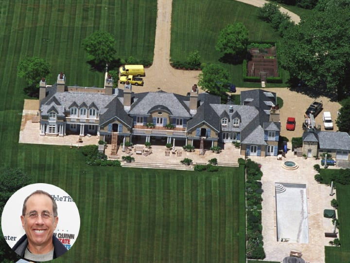 Jerry Seinfeld, mansion, estate, New York
