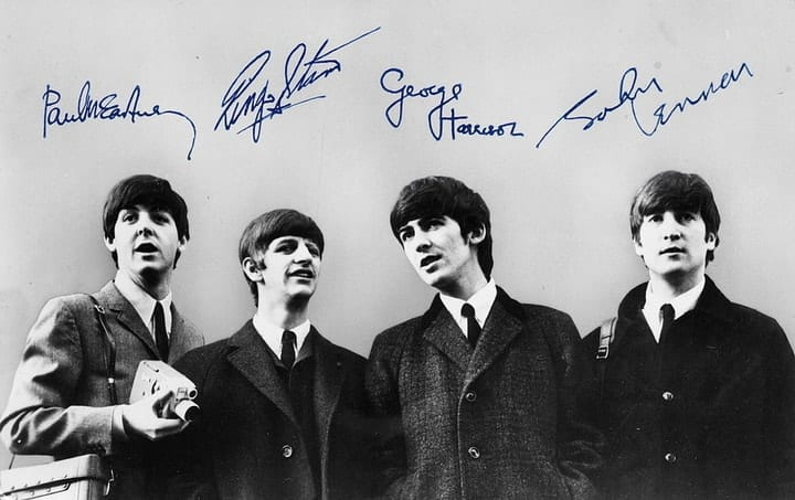 valuable autographs, The Beatles