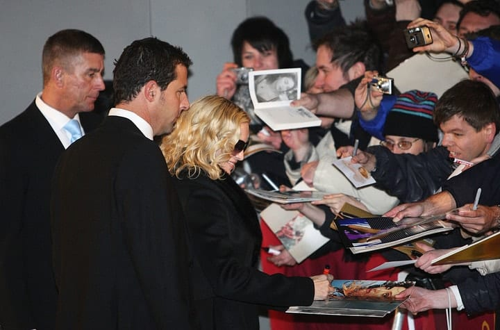 valuable autographs, Madonna