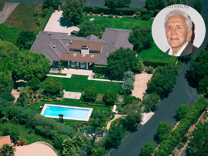 Kirk Douglas, Santa Barbara mansion, expensive home