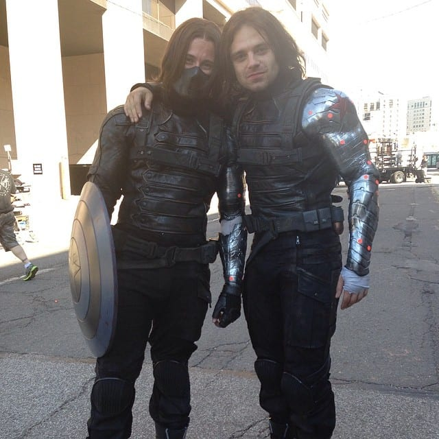 Bucky, Sebastian, James Young, stunt double