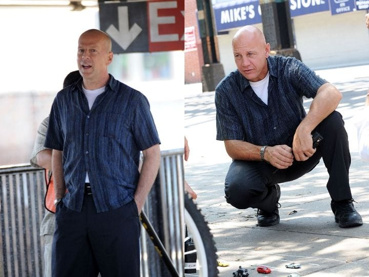 Bruce Willis, stunt double, stunt performer