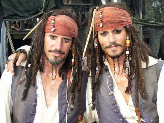 Johnny Depp, stunt double, Pirates of the Caribbean