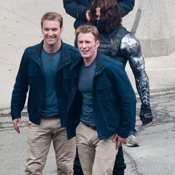 Chris Evans, Captain America, Winter Soldier, stunt double