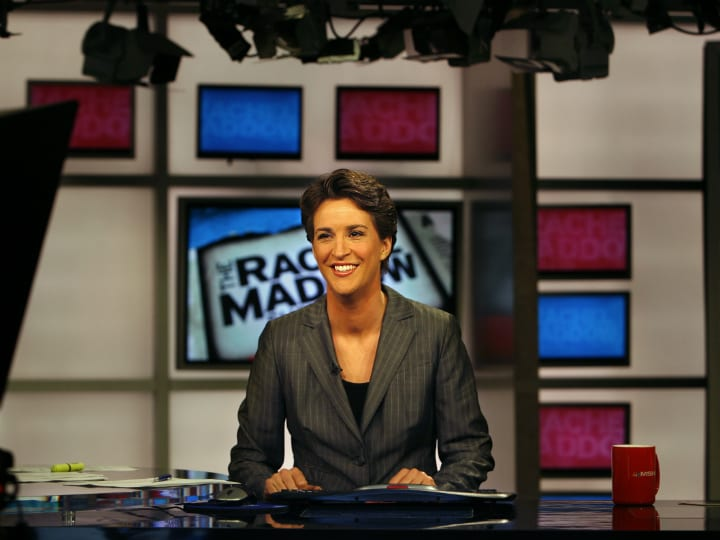rachel-maddow-tv-host, richest TV personalities