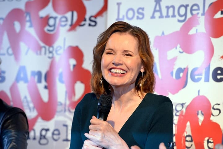 richest retired movie stars, Geena Davis