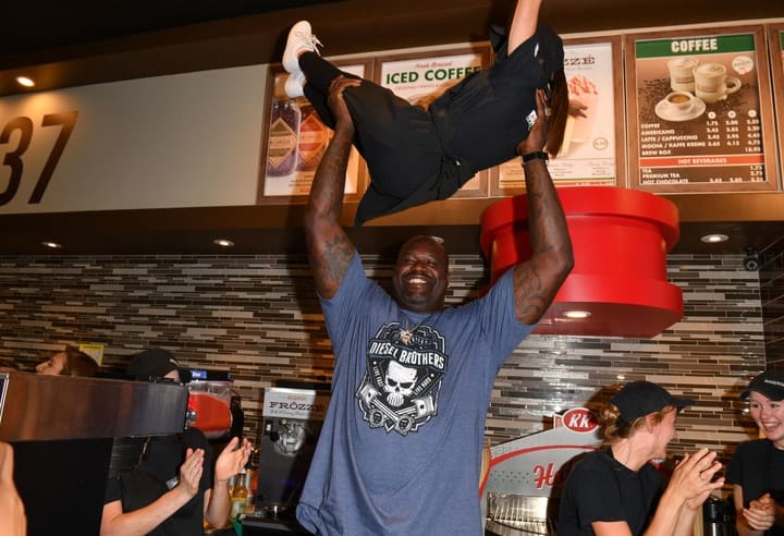 Shaquille O'Neal, celebrities that own food chains