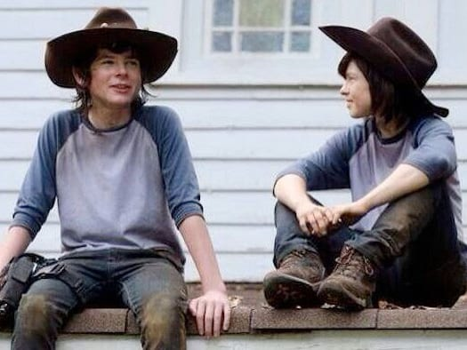 Chandler Riggs, The Walking Dead, stunt double