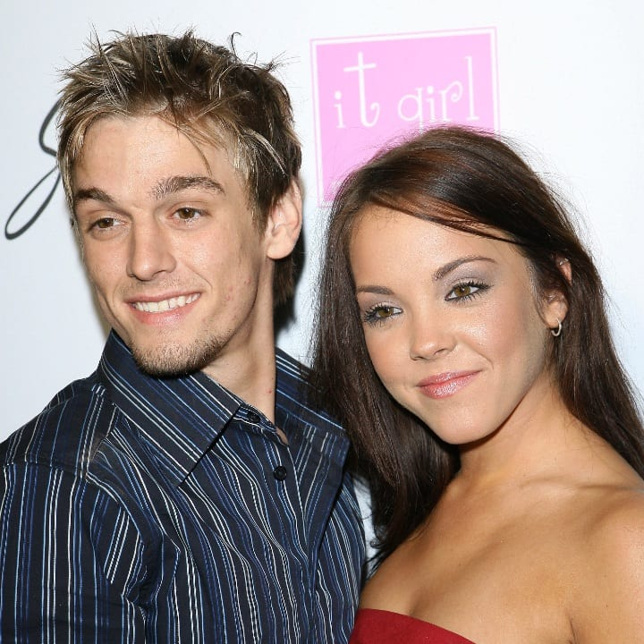 Aaron Carter and girlfriend Kaci Brown during Aaron & Angel Carter's Birthday Party - December 15, 2006 at SHAG Nightclub in Hollywood, California, United States.