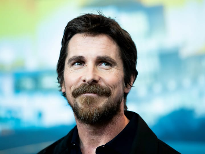 Christian Bale smiling