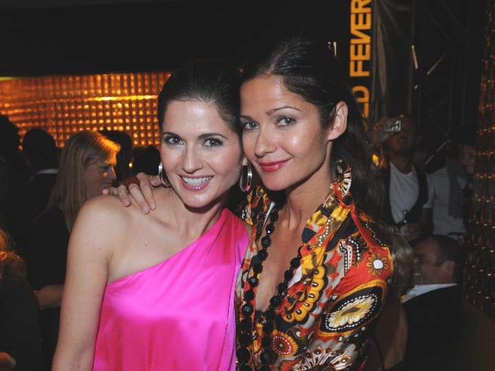 Jacqueline and Jill Hennessy attends the M.A.C GOLD FEVER AFTER PARTY at the Chum/City TV Building on September 7, 2008 in Toronto, Canada.