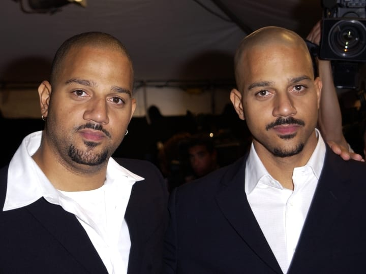 Directors Allen Hughes and Albert Hughes, directors, celebrity twins