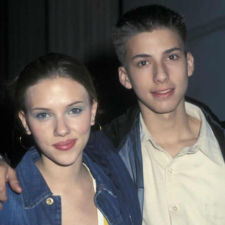 Scarlett Johansson and brother Hunter in New York City, New York