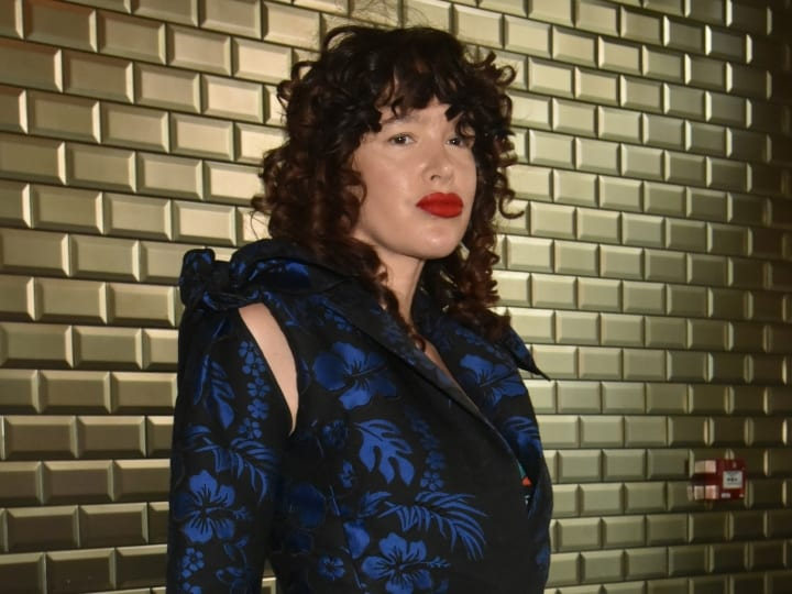 Paz de la Huerta attends the Jean-Paul Gaultier Haute Couture Fall Winter 2018/2019 show as part of Paris Fashion Week on July 4, 2018 in Paris, France