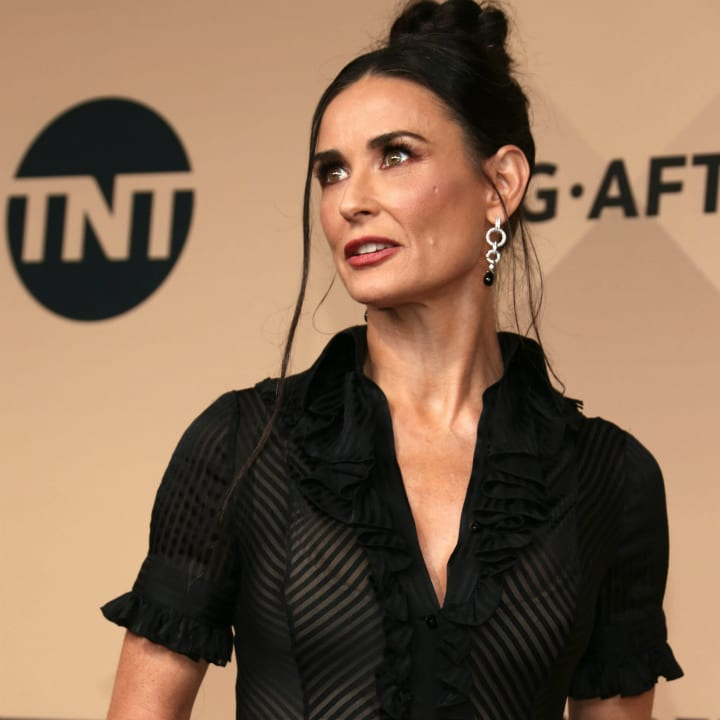 demi moore on red carpet
