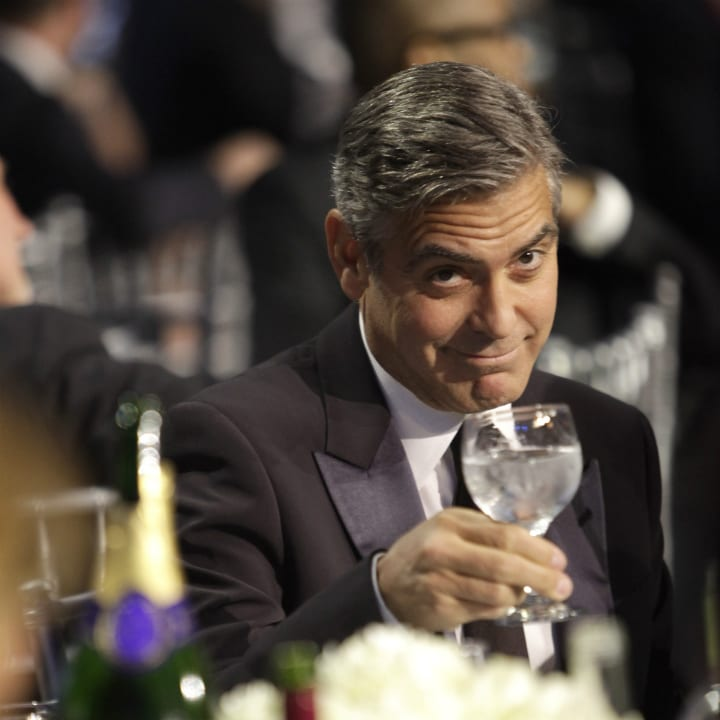 george clooney drinking