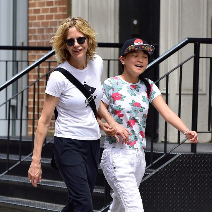 Meg Ryan and Daisy True Ryan are seen in Soho on May 30, 2016 in New York City.