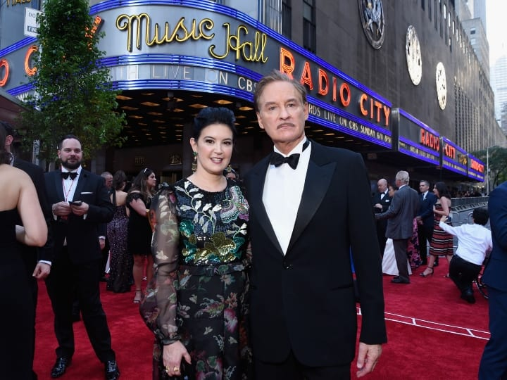 Phoebe Cates and Kevin Kline attend the 2017 Tony Awards at Radio City Music Hall on June 11, 2017 in New York City.
